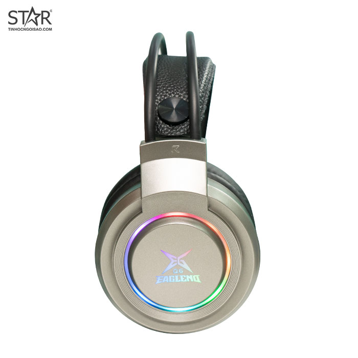 Tai Nghe Eaglend Q6 Iron Grey 7.1 Surround Gaming RGB (Đen Xám)