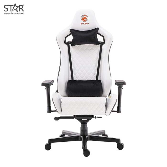 Ghế Gaming E-Dra LUX Ultimate EGC2020 Real Leather (Trắng)